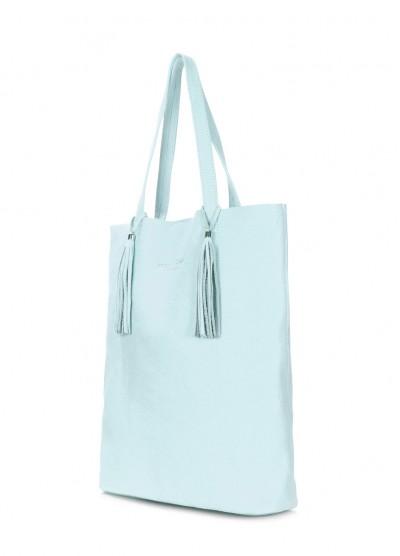 Голубая кожаная сумка POOLPARTY Angel