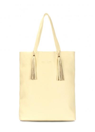Жёлтая кожаная сумка POOLPARTY Angel