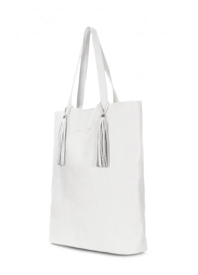 Белая кожаная сумка POOLPARTY Angel