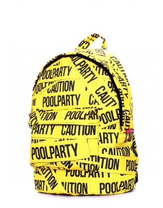 Рюкзак POOLPARTY с принтом CAUTION