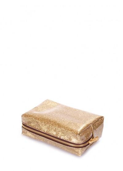Стильная золотая косметичка