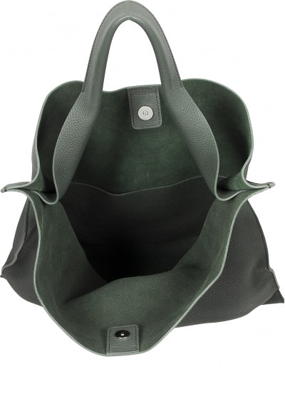 Зеленая кожаная сумка Bohemia