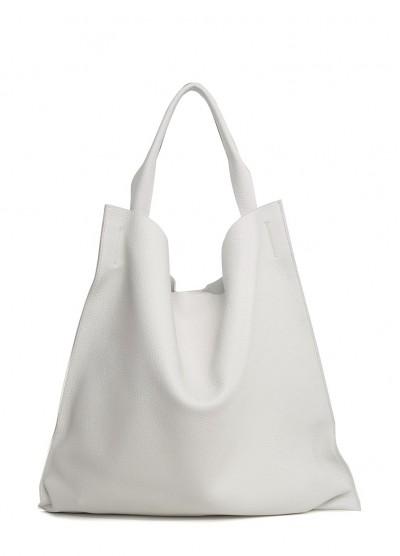 Белая кожаная сумка Bohemia