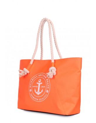 Оранжевая сумка Breeze с морским принтом
