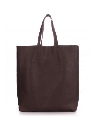 Кожаная сумка City Brown