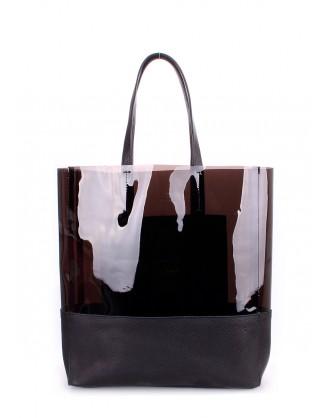 Кожаная сумка POOLPARTY Carrie