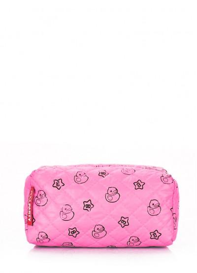 Розовая косметичка с уточками POOLPARTY
