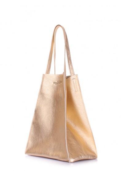Кожаная сумка Edge Gold