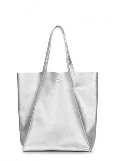 Кожаная сумка Edge Silver