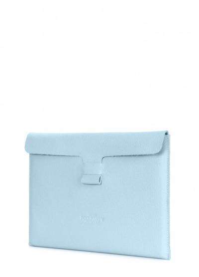 """Кожаный чехол для MacBook 13"""" голубой"""