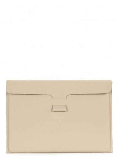 """Кожаный чехол для MacBook 13"""" беж"""