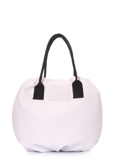 Белая сумка на завязках Muffin