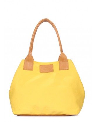 Желтая коттоновая сумка Navy