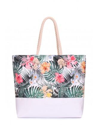 Летняя сумка Palm Beach с тропическим принтом