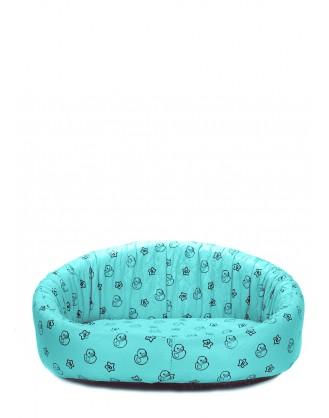 Голубой лежак для кошек и собак DUCKS