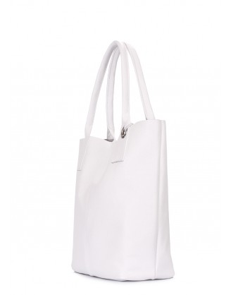 Белая кожаная сумка Podium
