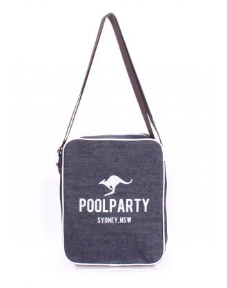 Джинсовая сумка POOLPARTY с ремнем