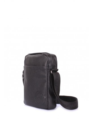 Мужская кожаная сумка на плечо POOLPARTY