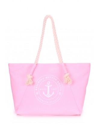 Розовая летняя сумка Breeze с морским принтом