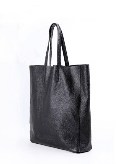 Кожаная сумка City Black