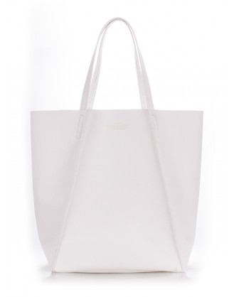 Кожаная сумка Edge White