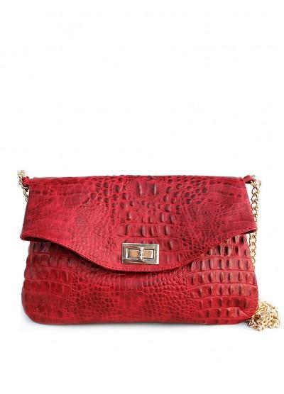 Кожаная сумочка-клатч POOLPARTY с цепочкой