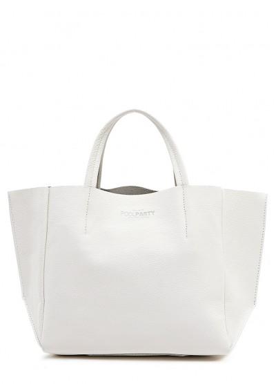 Кожаная белая сумка Soho