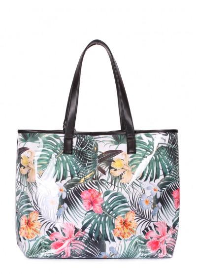 Летняя сумка Resort с тропическим принтом