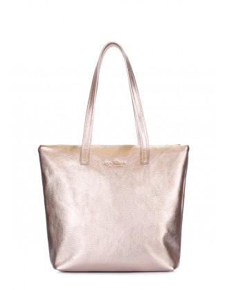 Золотая кожаная сумка Secret