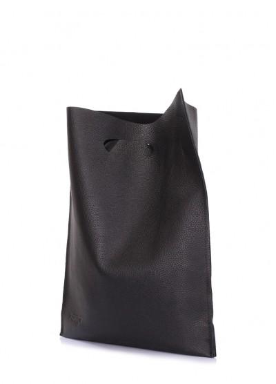 Кожаная сумка POOLPARTY Shopper