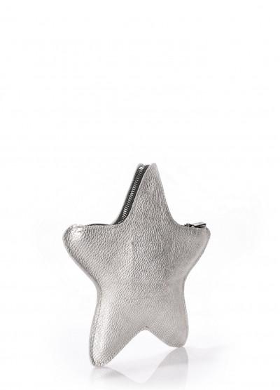 Кожаный клатч-косметичка POOLPARTY STAR