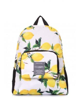 Складной рюкзак POOLPARTY Transformer с лимонами