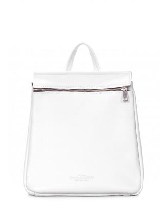Кожаный белый рюкзак POOLPARTY Venice