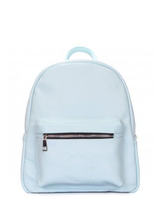 Голубой кожаный рюкзак POOLPARTY Xs